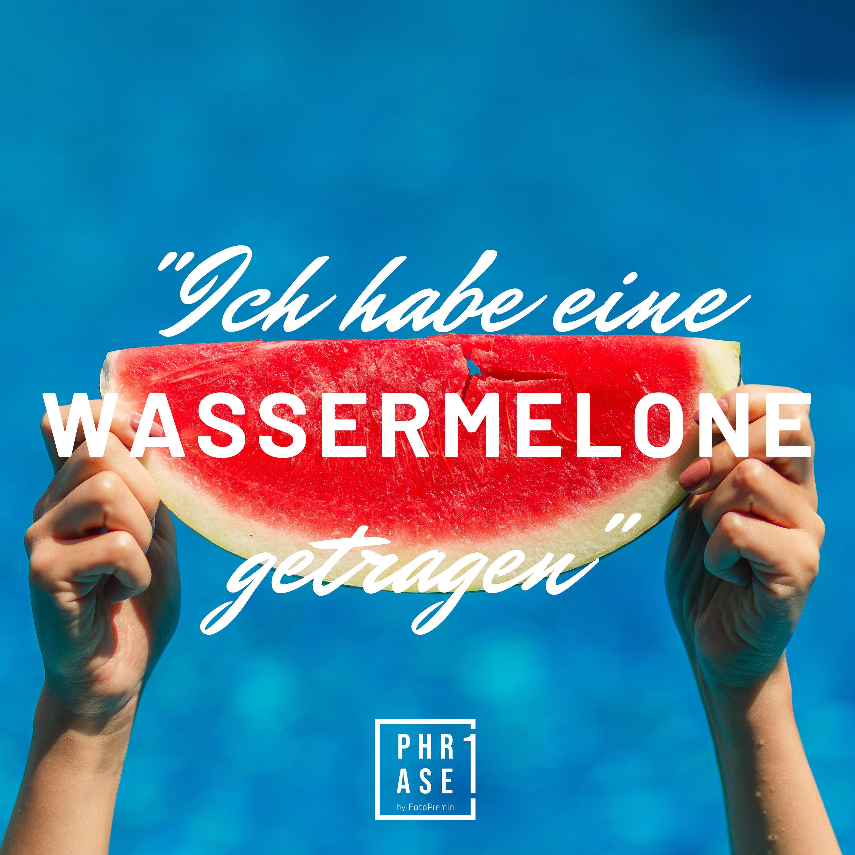 Ich habe eine Wassermelone getragen